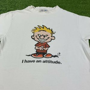90's Calvin And Hobbes I Have An Attitude T-Shirt